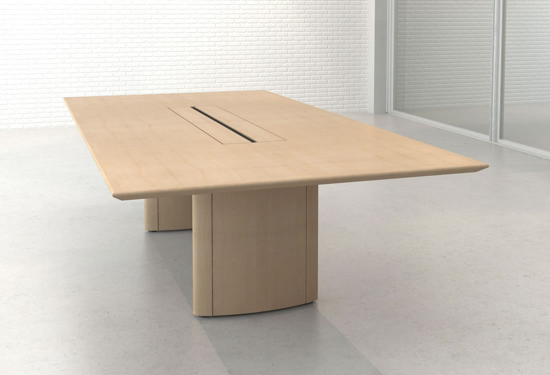Mesa conference table maple