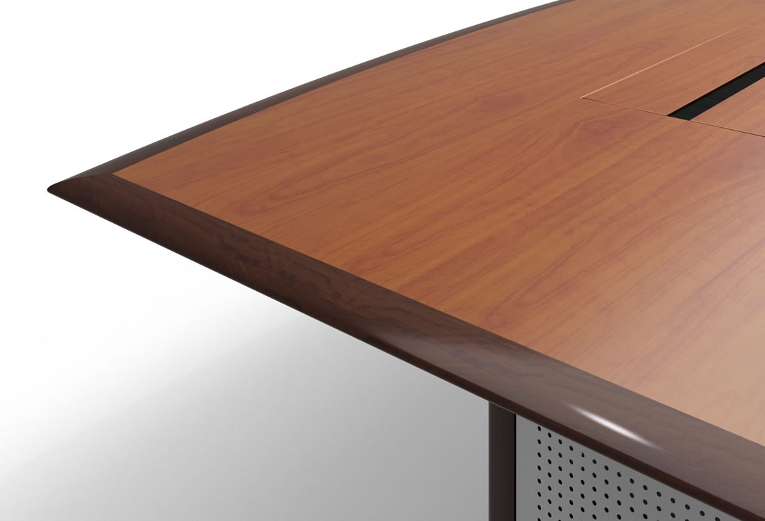 Mesa conference table wood edge accent