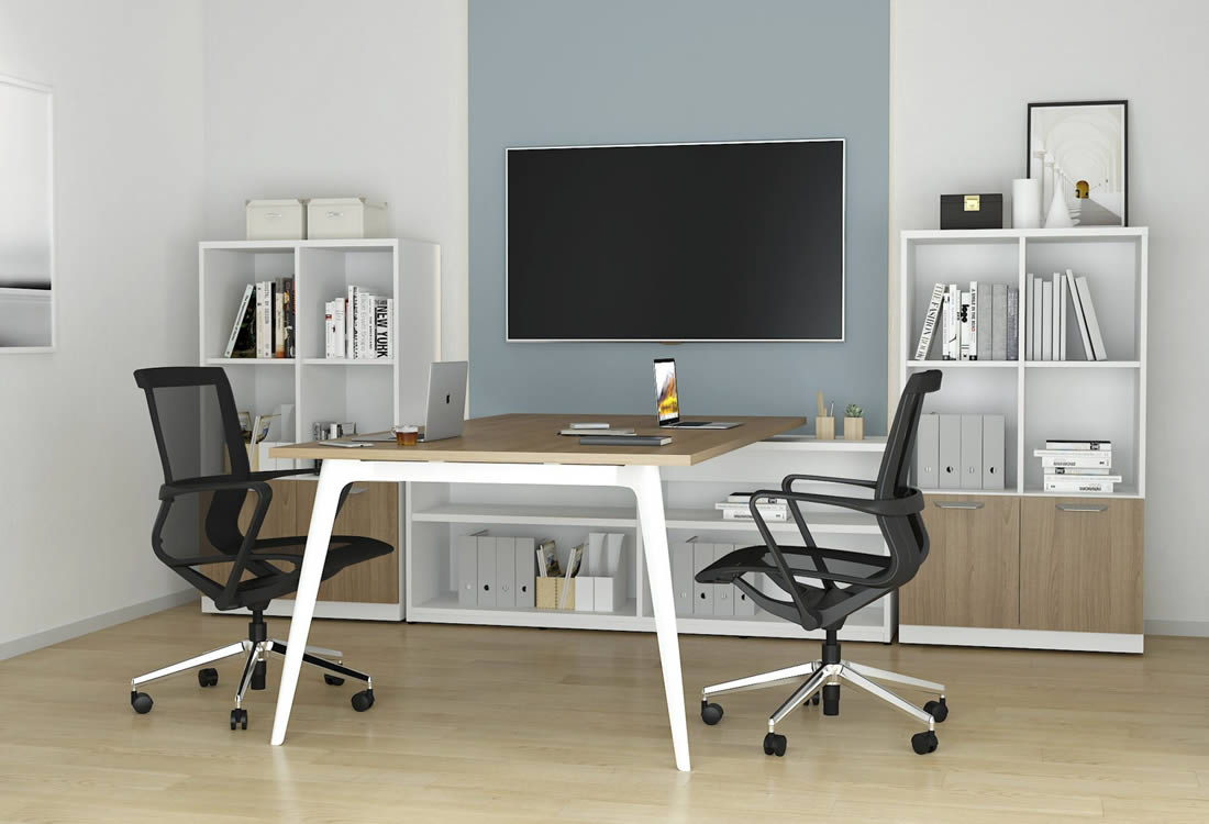 Dash small format two person work station
