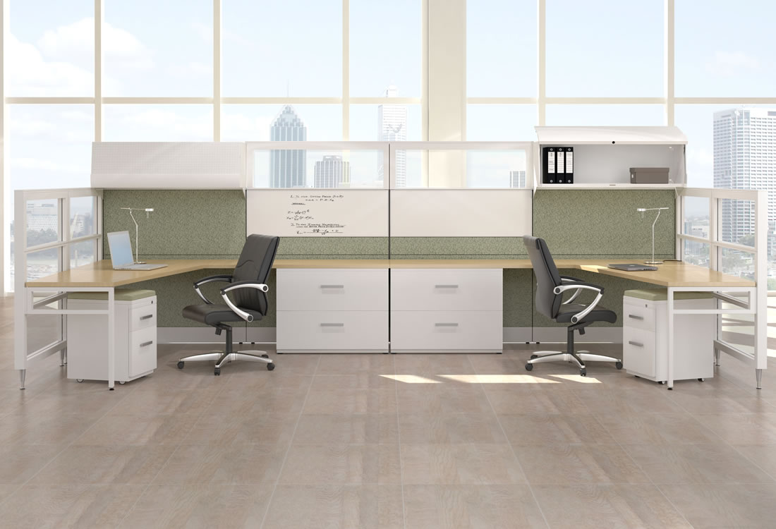 Interra cubicles shown side-by-side