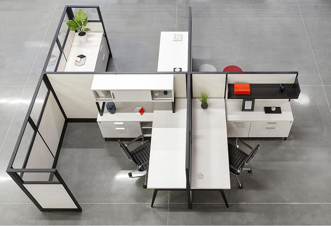 Novo cubicles, an aerial view