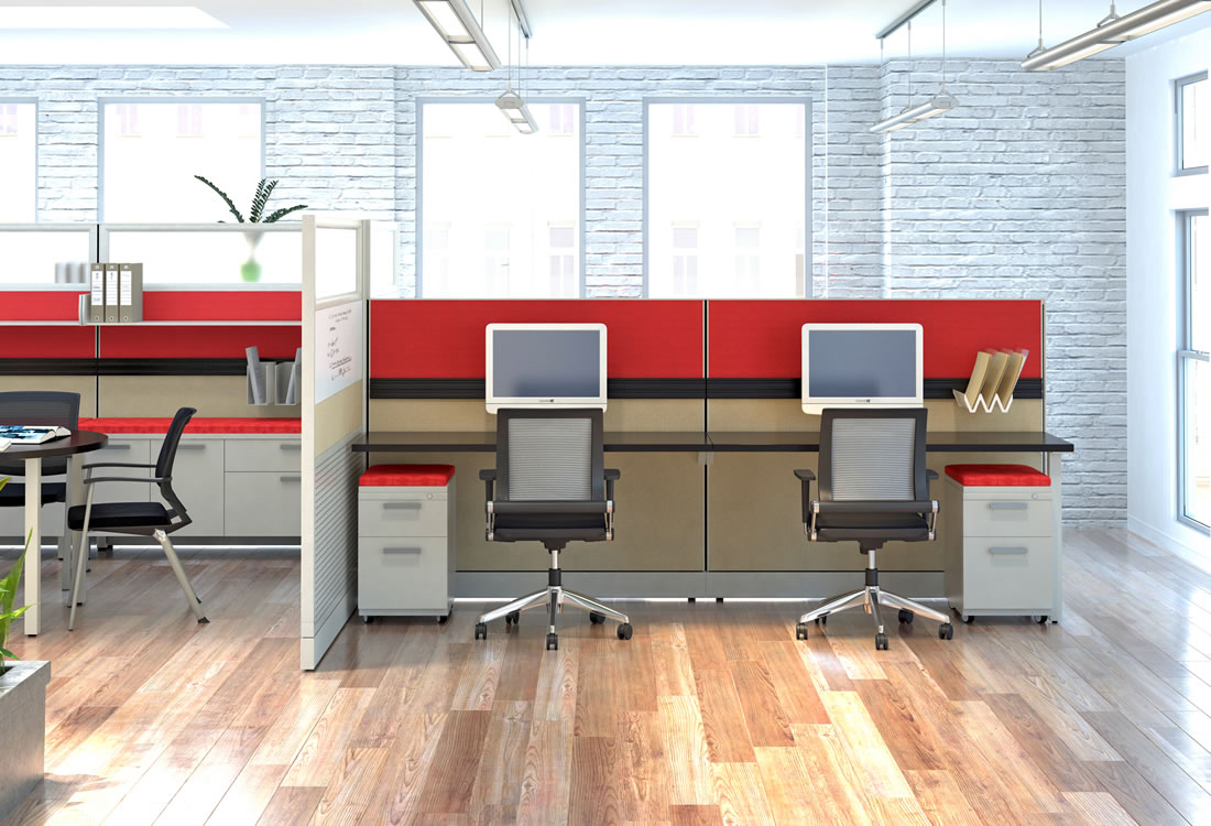 Novo cubicles small format, with large feel