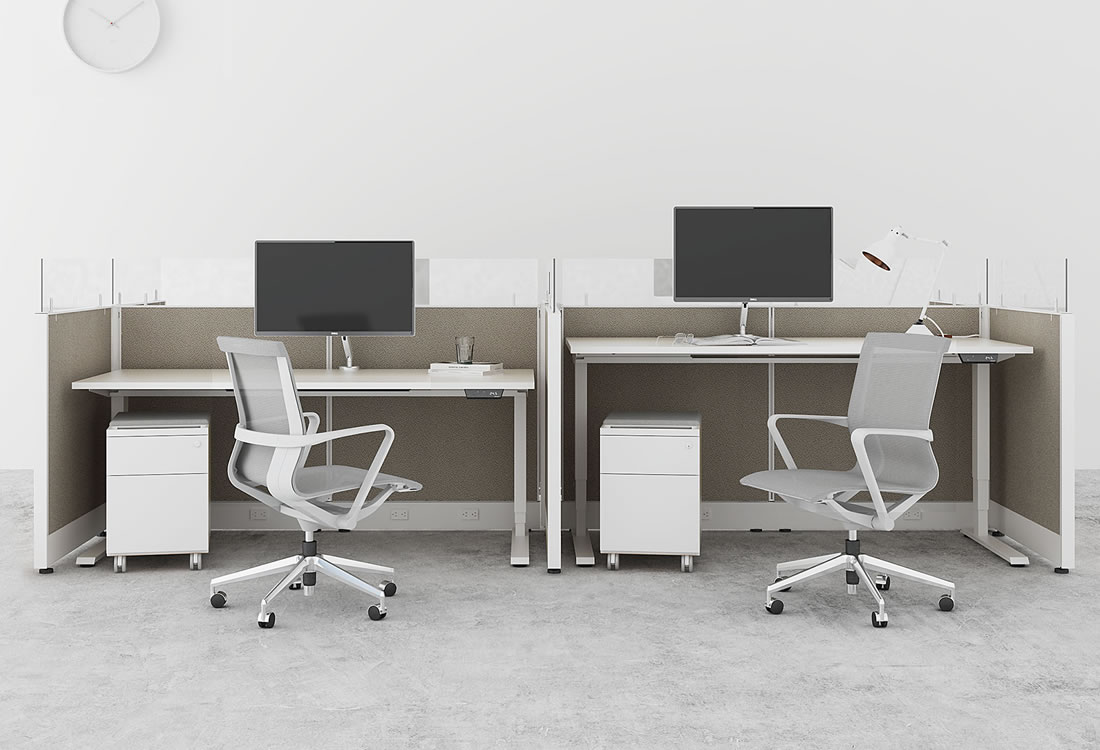 Novo cubicles with standing desks