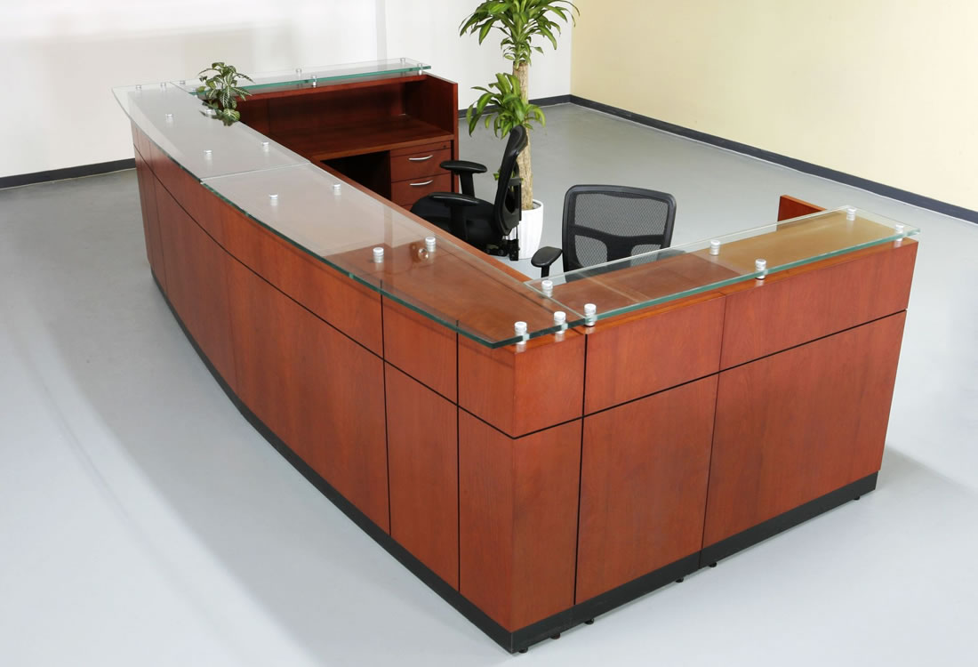 Willow reception desk extra large two person