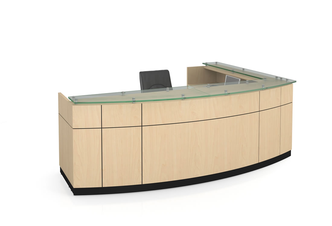 Willow reception desk maple