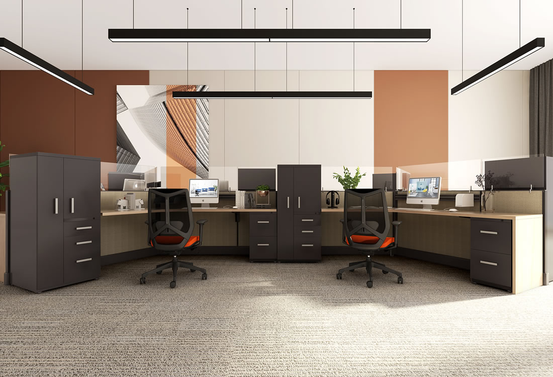 System Two cubicles with extra storage