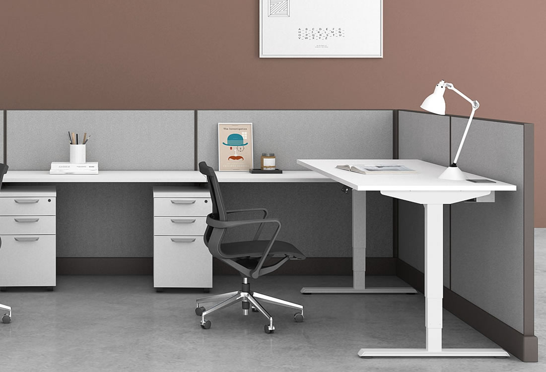 System Two with height adjustable desk
