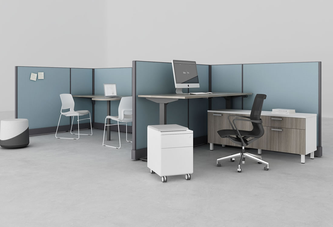 System Two with standing desk
